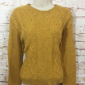 URBAN OUTFITRS COOPERATIVE CABLE MUSTARD SWEATER-M